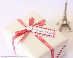 French Inspired Christmas: Gift Tags and Fabric Tape - A Spoonful of Sugar