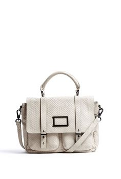 Snake Stamped Leather Werdie Top Handle Satchel by Marc by Marc Jacobs