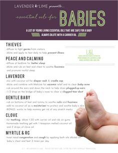 Young Living essential oils for babies from the Lavender and Lime team -- Lindsey Moreno, Young Living #1559272