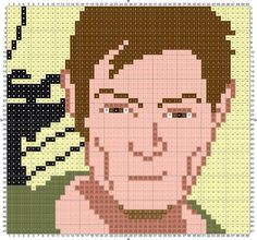 Daryl Dixson, Norman Reedus knitting, crochet, and cross stitch Free PDF Downloads. Intarsia. the Walking Dead. Nerd Knits