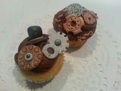 Steampunk cupcakes by A Cupcake Queen - Crystal Gruber.