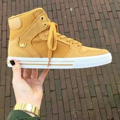 Supra Footwear, Supra Vaider Amber Gold/White