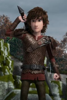Hiccup when saw Garf........ this part was sooooo heartbreaking but when he kissed Astrid it made it a bit better!