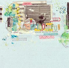 #papercraft #scrapbook #layout I {lowe} SCRAP - I love pattern