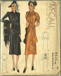 McCall 9515 | ca. 1937 Ladies' & Misses' Dress
