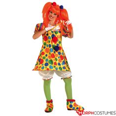 Giggles The Clown Adult Costume Description: Giggle at this funny clown. This clown will make you giggle until you can't giggle no more. Giggles the Clown costume Cute Clown Costume, Clown Halloween Costumes, Circus Costume, Halloween Kostüm, Adult Costumes, Clown Dress, Cartoon Costumes, Animal Costumes, Group Costumes