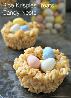 "Rice Krispie Easter Treats: Candy ""Nests"" - Mom Always Finds Out"