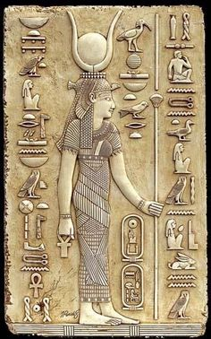 """Isis – Goddess of magical power and healing, """"She of the Throne"""" who was represented as the throne. She was worshipped as the ideal mother and wife as well as the patroness of nature and magic. She was the friend of slaves, sinners, artisans, the downtrodden, but she also listened to the prayers of the wealthy, maidens, aristocrats, and rulers."""