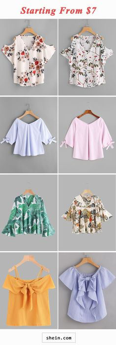 Chic blouses start at $7!