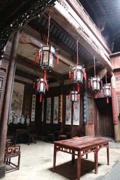 Old chinese house and living room
