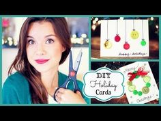 DIY Holiday Cards ❄ #DIYDecember Day 3 - YouTube