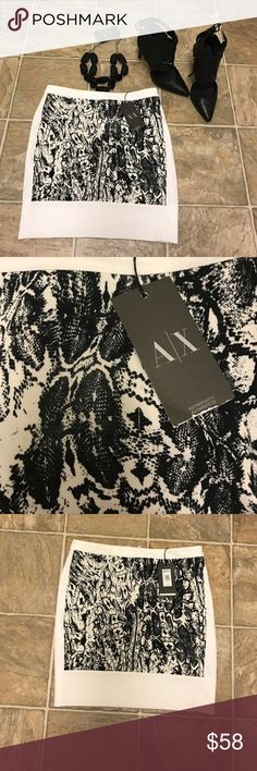 Brand new with tags on Armani exchange skirt ! Brand new with tags on Armani exchange skirt size 4! Beautiful for formal yet sexy occasions ! Bundle 2 or more items from my closet and get 10%off 💓 A/X Armani Exchange Skirts