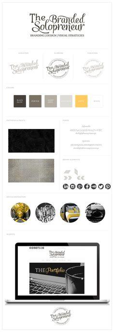 The Branded Solopreneur Brand Identity Design, Graphic Design Branding, Corporate Design, Typography Design, Design Logos, Tableaux D'inspiration, Web Design, Blog Design, Marca Personal