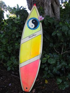 1987 T&C Vintage Surfboard shaped by Dennis Pang