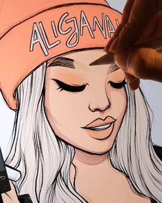 Pencil Art Drawings, Art Drawings Sketches, Cartoon Drawings, Cartoon Art, Cartoon Styles, Digital Painting Tutorials, Digital Art Tutorial, Art Tutorials, Digital Portrait
