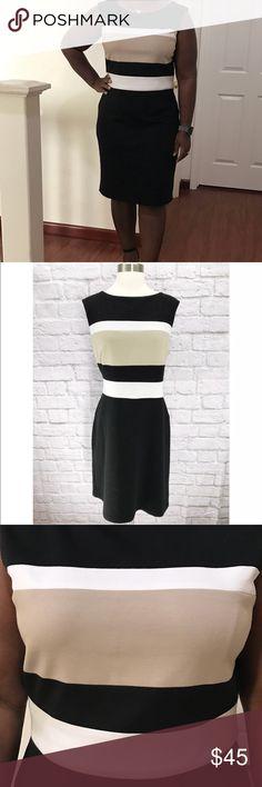 WHBM  Colorblock Sleeveless Dress Size 14 Beautiful dress. Light piling. Good condition. Size 14 White House Black Market Dresses