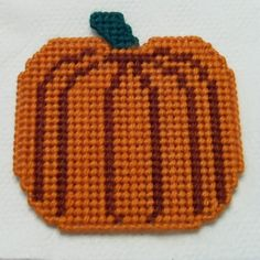 Your place to buy and sell all things handmade Plastic Canvas Coasters, Plastic Canvas Crafts, Plastic Canvas Patterns, Fall Crafts, Diy Crafts, Halloween Crochet, Covered Boxes, Fall Pumpkins, Needlepoint