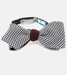 The Marcus Askary Reversible Bow Tie   This classic houndstooth wool bow tie complements just about a...   Neckties