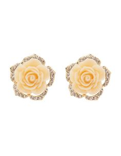 Oversize Flower Stud Earrings | Charlotte Russe