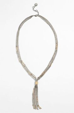 $38 | Jessica Simpson Gathered Chain Necklace | Nordstrom