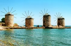Windmills in Chios, Greece Holy Week Events, Ireland In March, Chios Greece, Europe Spring, Spring Vacation, Old Town Square, Bourbon Street, In Season Produce, Old Farm