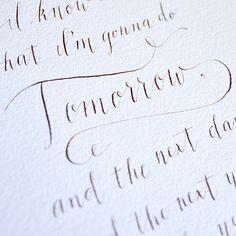 calligraphy + tutorials