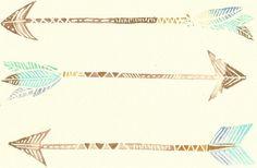 Mocha Blue Mint and Gold Modern Boho Arrows by FeatherAndSixpence