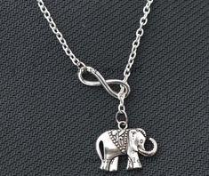 Infinity necklace  elephant necklacelariat by CountrystyleDIY, $3.99
