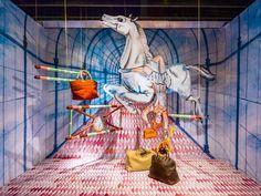 Surreal Circus Scenes  The Kiki Van Eijk's Windows Installation is Whimsical