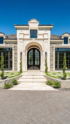 French Architecture, Architecture Portfolio, Interior Architecture, House Outside Design, House Front Design, Building Exterior, Building A House, Architectural Digest, Architectural Elements