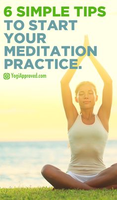Give your busy mind a well deserved break. Here are 6 simple steps to begin a regular meditation practice - YogiApproved.com