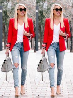 Look com blazer - como usar blazer preto looks com blazer blazer zara blazer rosa blazer vermelho blazer preto blazer branco
