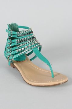Turquoise gladiators! These are kind of cute...
