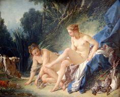 François Boucher (París, 29 de septiembre de 1703 – París, 30 de mayo de 1770) Diana después del baño (1742).