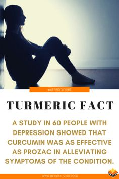 Turmeric has been shown to naturally help depression. A study that observed 60 people showed that curcumin was as effective as Prozac in alleviating symptoms of depression. What Is Turmeric, Turmeric Root, Turmeric Curcumin, Best Turmeric Supplement, Curcumin Supplement, Curcumin Extract, Turmeric Paste, Inflammation Causes, Turmeric Health Benefits