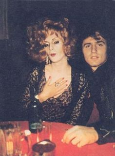 Candy Darling & Gerard Malanga at Max's Kansas City. Early 1970's. #Warhol