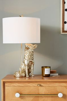 Winsome Woodland Table Lamp by Anthropologie in Gold Lighting Bureau Design, Animal Lamp, Unique Table Lamps, Rustic Lamps, House Lamp, Torchiere Lamp, String Lights Outdoor, Bedroom Lamps, Kids Bedroom