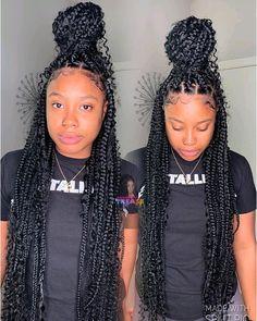 box braids with curly ends / box braids & box braids hairstyles & box braids medium & box braids with color & box braids hairstyles for black women & box braids styling & box braids with curly hair & box braids with curly ends Pink Box Braids, Small Box Braids, Braids With Curls, Black Girl Braids, Blonde Box Braids, Braids For Short Hair, Braids For Black Hair, Jumbo Braids, Afro Braids