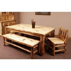 Aspen Ridge Log Dining Table