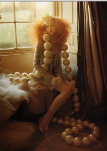 More Tim Walker, playing doll dress up's with Lily Cole