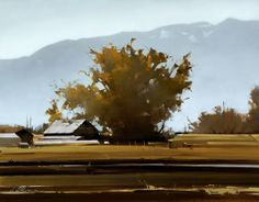 """2007, Shade Tree by Joseph Alleman Oil. 14"""" x 18"""""""