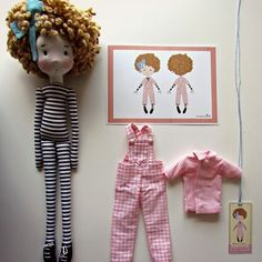 anacardia + Cecília Murgel Doll Clothes Patterns, Doll Patterns, Raggy Dolls, Crochet Dolls, Fabric Toys, Paper Toys, Paperclay, Doll Tutorial, Waldorf Dolls