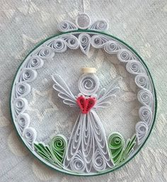 New Ideas Diy Christmas Ornaments Paper Angel Crafts Quilling Jewelry, 3d Quilling, Paper Quilling Flowers, Paper Quilling Patterns, Quilled Paper Art, Quilling Paper Craft, Paper Crafts, Quilling Ideas, Quilling Christmas