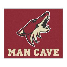 NHL - Arizona Coyotes Man Cave Tailgater Rug 5x6 Star Rug, Arizona Coyotes, Man Cave Area Rugs, Phoenix Coyotes, Nhl, Products, Floor Mats, Nylon Carpet, National Hockey League