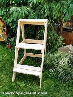 Diy plant stand outdoor furniture plans pinterest - Ladder plant stand plans ...