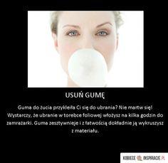 Usuń gumę do żucia z ubrań! Szybko i dokładnie - Kobieceinspiracje.pl