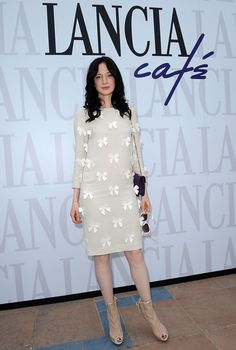 Andrea Riseborough Photos: Celebrities At The Lancia Cafe in Venice