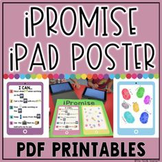 iPromise iPad Poster by The Techie Teacher Book Creator, Math Manipulatives, Teaching Technology, Classroom Projects, Computer Lab, Writing Lessons, Chromebook, Google Classroom, Learning