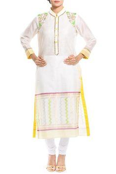 Ritesh Aniket Rishav, Designers, Coutureyard, White silk kurta ,  , Chanderi Silk , Dry Clean Only ,  ,  , 5'5