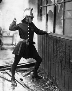 A woman firefighter of the Achille Serre Ladies Fire Brigade in London, 1925
